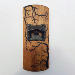 Fridge-mounted Bottle opener (Black Cherry - Natural)