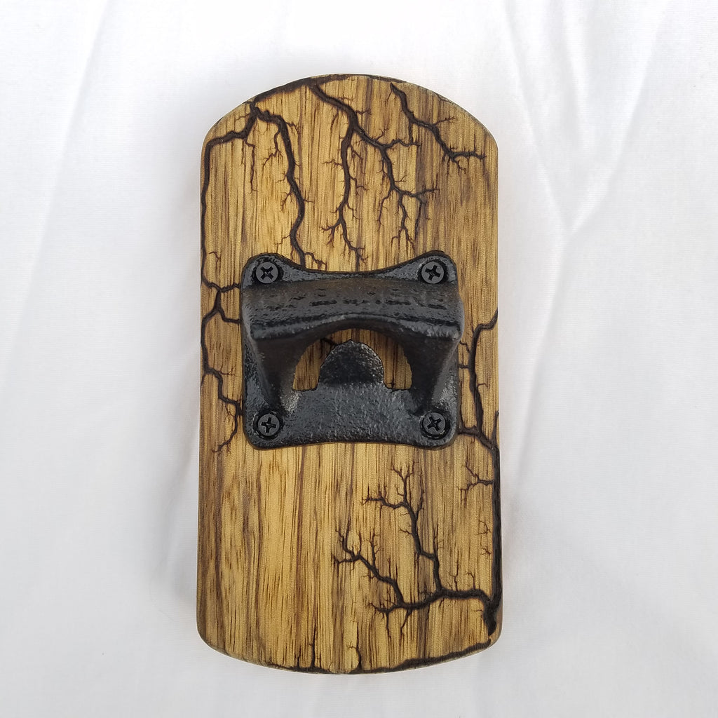 Fridge-mounted Bottle opener (Black Limba)