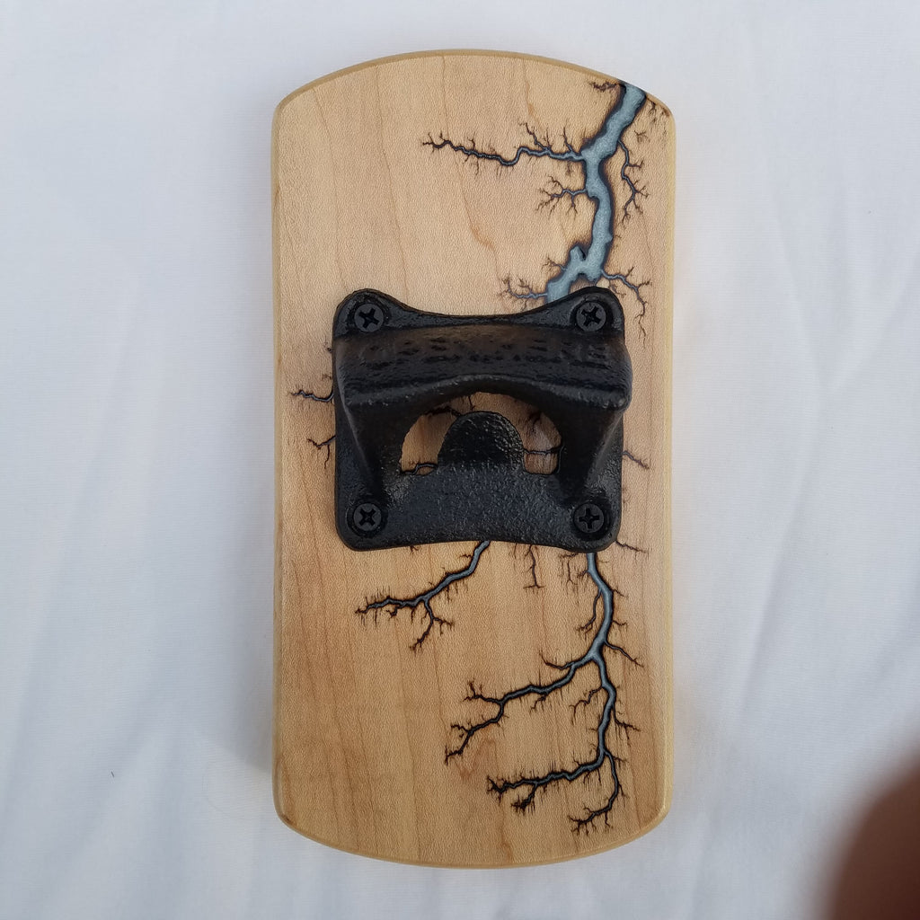 Fridge-mounted Bottle opener (Maple - White)