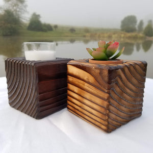 Torched Planter (Dark Brown)