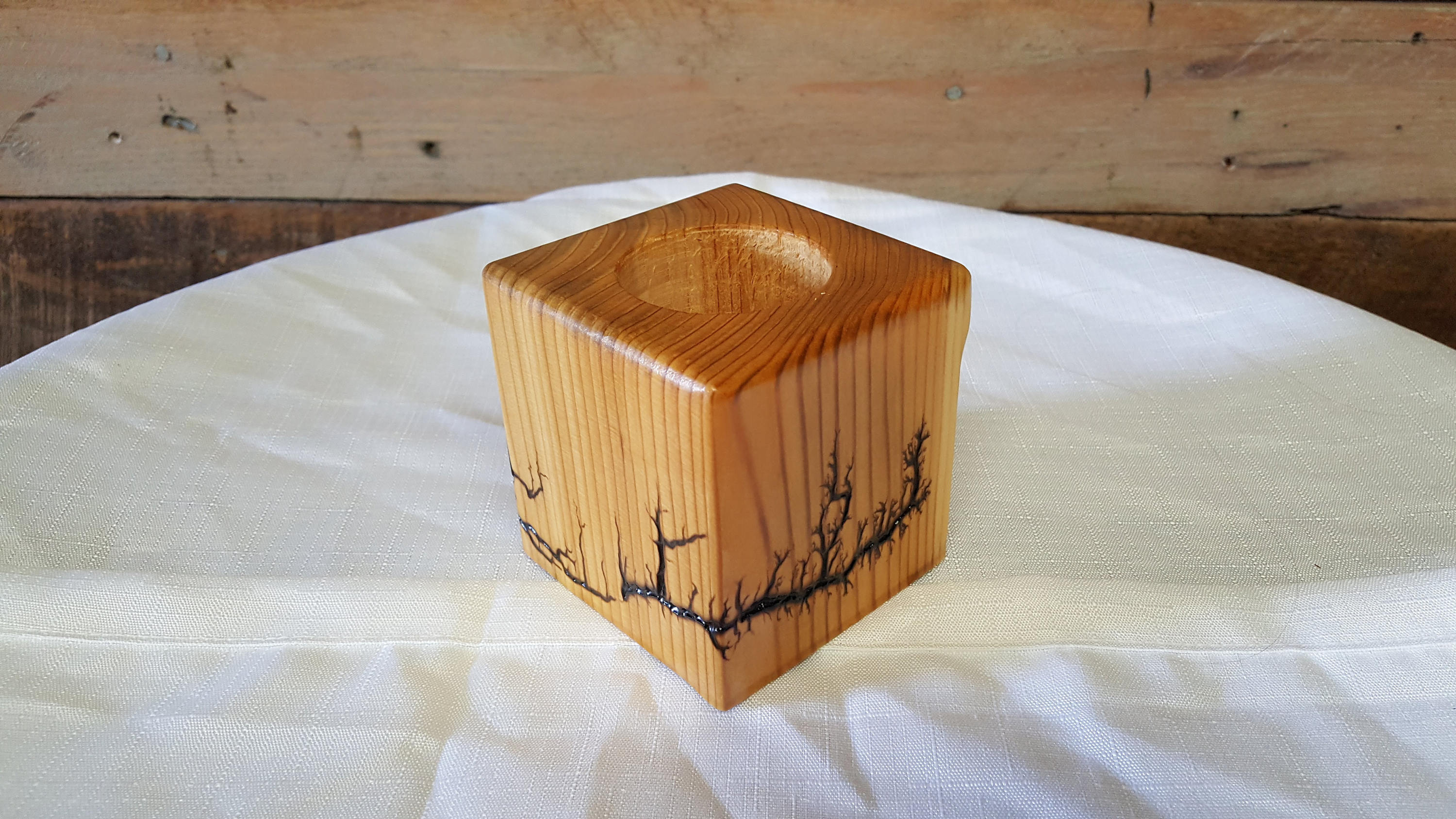 Captured Lightning Planter/Candle Holder (Made-to-order)