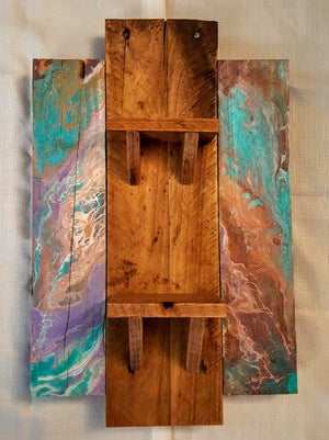 Lavender Waves: Pallet wood shelves