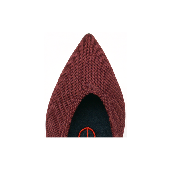 KNIT FLAT POINT - BURGUNDY