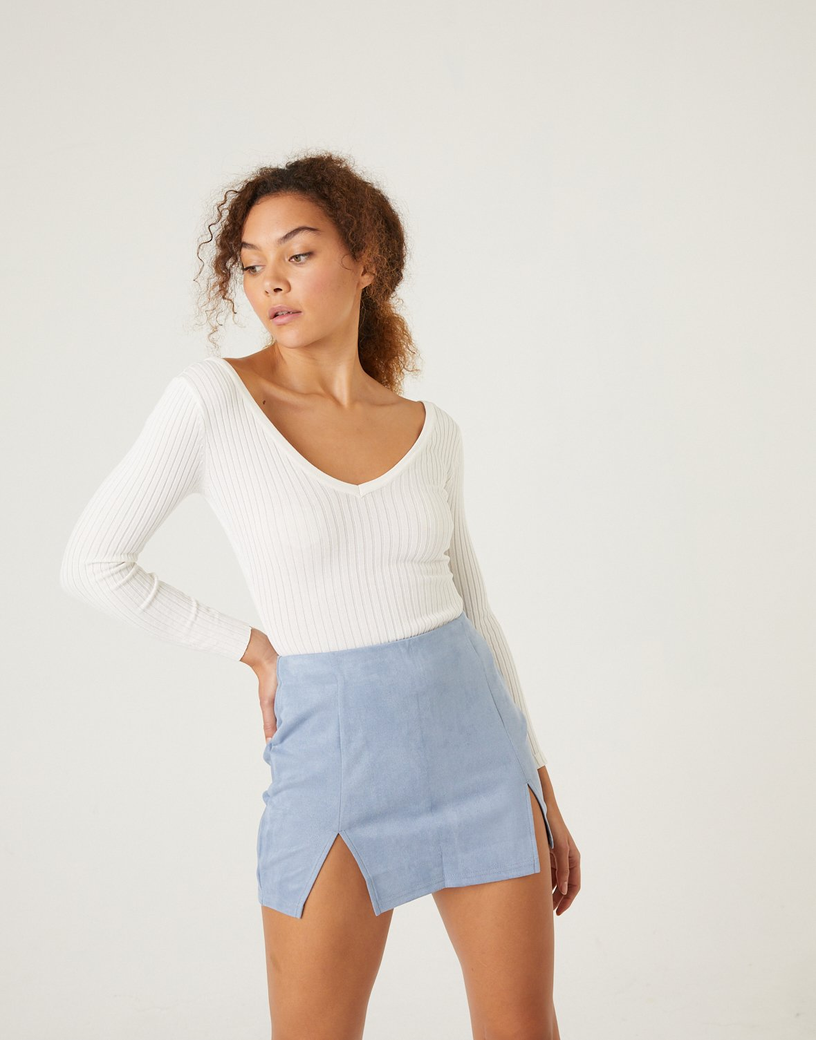 Mini skirts from90 Double Slit Suede Mini Skirt Fashion Gal Clothing