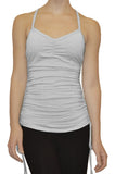 Modern Classic Activewear Top + Tunic in Pinstriped White.  Barrewear. Everywear.