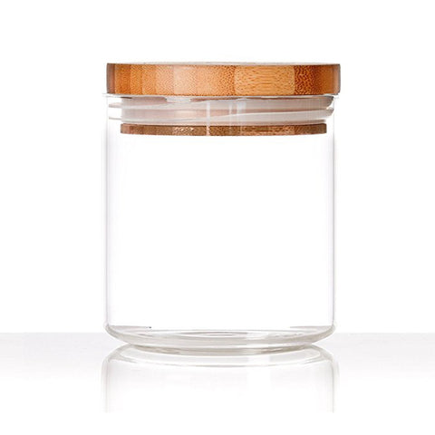 Glass Storage Jar with Bamboo Lid Seal