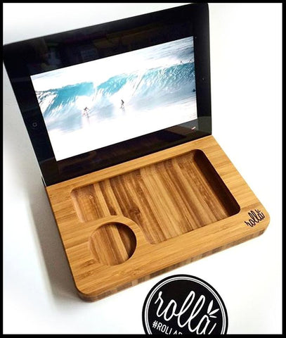 Media Sled - Bamboo Rolling Tray - by Rollaboards