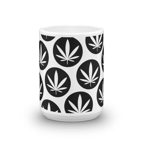leaf mug - Black and White
