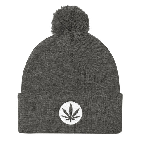 Leaf Knit Cap Grey