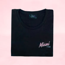 Load image into Gallery viewer, 🕶️ Miami VIBE Black T-Shirt - Woman | Glows in the dark