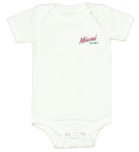 Load image into Gallery viewer, Miami BABY! White Onesie - Kid - Unisex | Glow in the dark