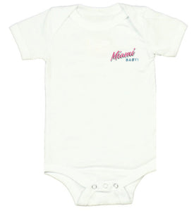 Miami BABY! White Onesie - Kid - Unisex | Glow in the dark