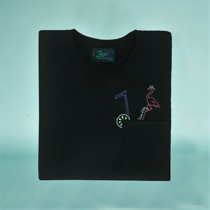 🍹 Vice City cocktail pocket T-Shirt - Man - Unisex | Glows in the dark