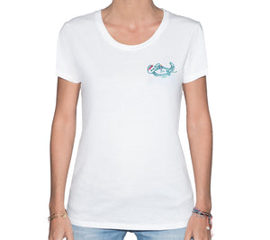 🐊 Alligator chilling in the Everglades White T-Shirt - Woman