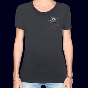 🏩 MOTEL What Happens in Vegas... Black T-Shirt - Woman | Glows in the dark
