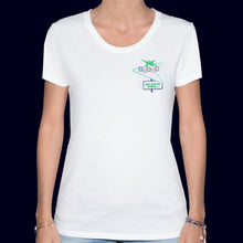 Load image into Gallery viewer, 🏩 MOTEL What Happens in Vegas... White T-Shirt - Woman | Glows in the dark