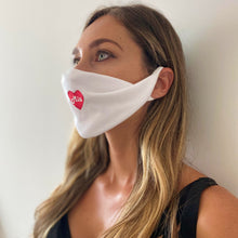 Load image into Gallery viewer, Mia Mi Corazon White washable face mask - Unisex | Glow in the dark