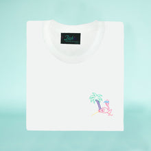Load image into Gallery viewer, Retro Flamingo White T-Shirt - Man - Unisex | Glow in the dark