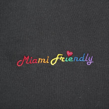 Load image into Gallery viewer, 🌈 Miami Friendly Rainbow T-Shirt - Woman - Black