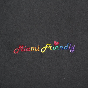 Miami Friendly Rainbow T-Shirt - Woman - Black or white