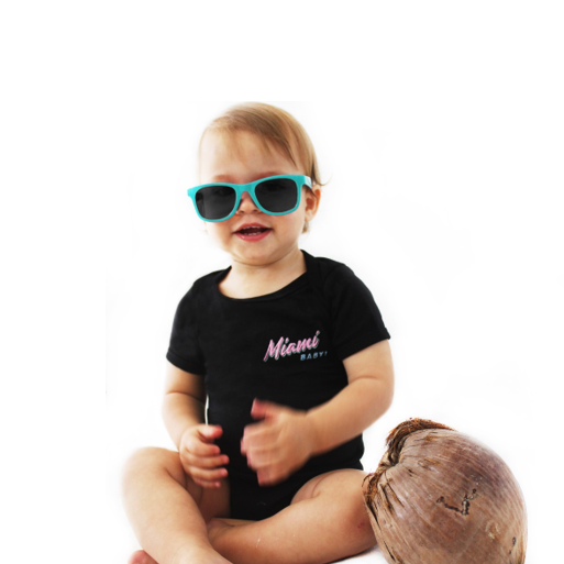 Miami BABY! Black Onesie - Kid - Unisex | Glow in the dark