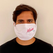 Load image into Gallery viewer, Miami VIBE White washable face mask - Unisex | Glow in the dark