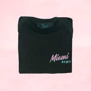 🕶️ Miami BABY! Black Onesie - Kid - Unisex | Glows in the dark