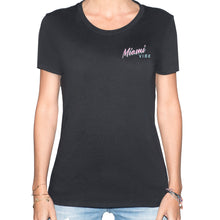 Load image into Gallery viewer, Miami VIBE Black T-Shirt - Woman | Glow in the dark