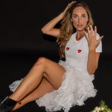 Load image into Gallery viewer, 💞 Las Vegas hearts White T-Shirt - Woman | Glows in the dark