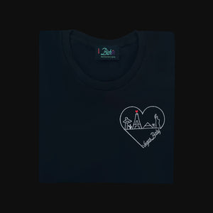 🖤 Vegas Baby Black T-Shirt - Woman | Glows in the dark