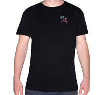 Load image into Gallery viewer, 🦩 Retro Flamingo Black T-Shirt - Man - Unisex | Glow in the dark