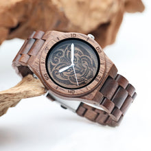 Load image into Gallery viewer, walnut wooden watch