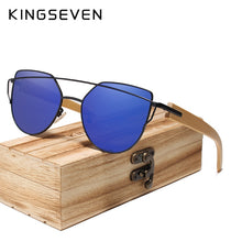 Load image into Gallery viewer, Kingseven Women Wooden Sunglasses