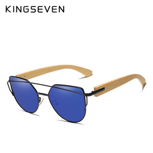 Kingseven Women Wooden Sunglasses