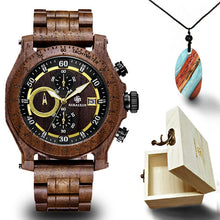 Load image into Gallery viewer, Chronograph Wooden Watch