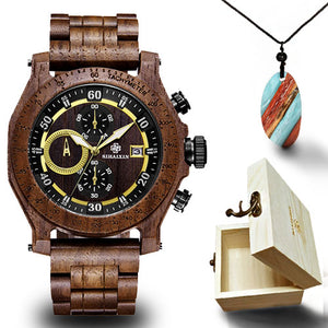 Chronograph Wooden Watch