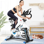 L Now Indoor Exercise Bike - Stationary Bike Belt Drive