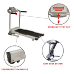 "Treadmill - Foldable Treadmill Motorized Auto Incline 16"" Wide Belt LCD Display By Sunny Health"