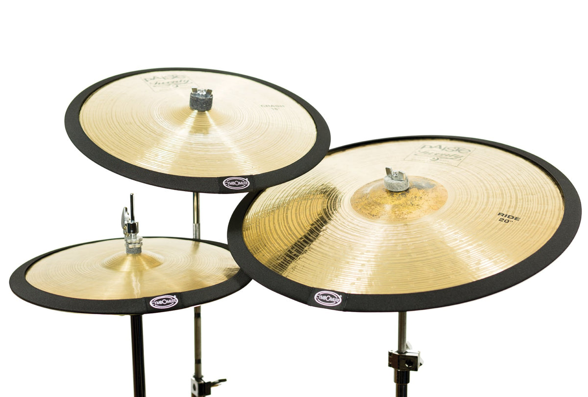 cymbomute set of 3 cymbal mutes pads silencers dampeners uk percussion concepts ltd. Black Bedroom Furniture Sets. Home Design Ideas