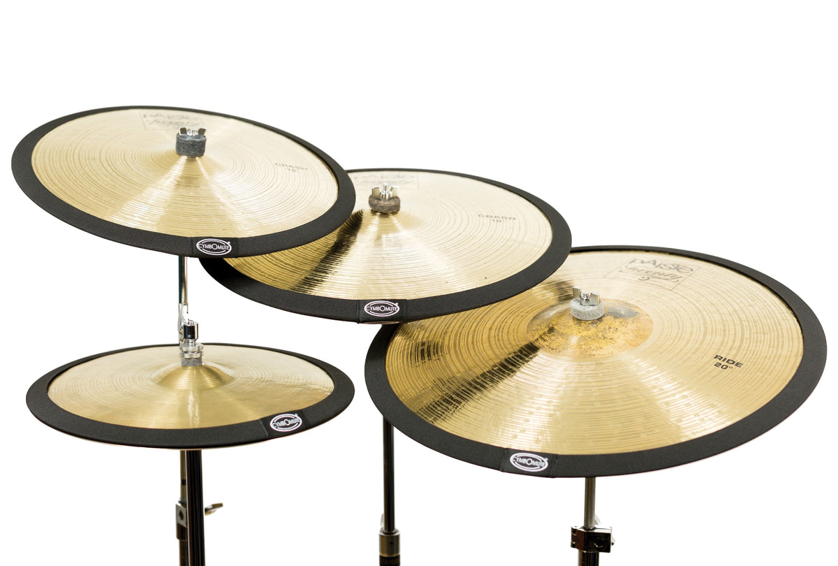 cymbomute set of 4 cymbal mutes pads silencers dampeners uk percussion concepts ltd. Black Bedroom Furniture Sets. Home Design Ideas