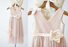 Load image into Gallery viewer, Boho Beach Blush Pink Tulle Dress