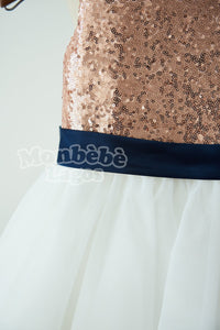Keyhole Rose Gold Dress