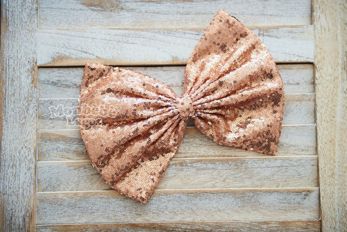 Rose Gold Sequins Bow
