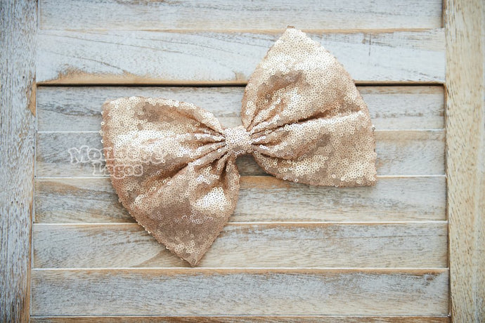 Light Gold Sequins Bow