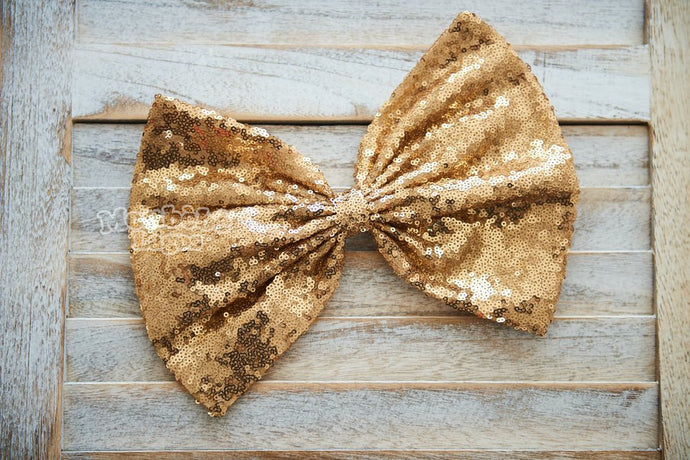 Gold Sequins Bow