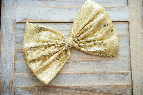Yellow Gold Sequins Bow