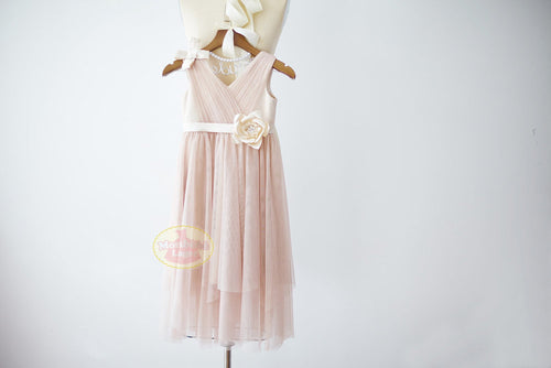 Boho Beach Blush Pink Tulle Dress