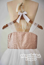 Load image into Gallery viewer, Layo Rose Gold Sequin Dress