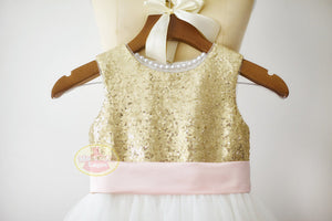 Keyhole Gold Sequin Dress