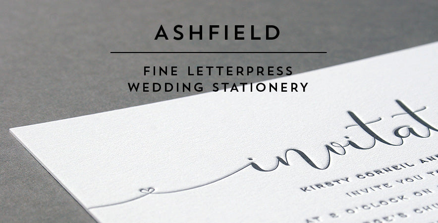 Ashfield letterpress wedding stationery